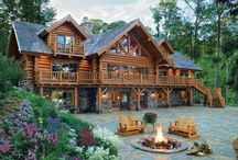 Log homes, log cabins, houses
