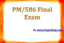 PM 586 Final Exam - UopeHelp / We understand your needs in exactly the same way you want us to. Get ready solutions to the latest exam papers and score the grades you have always dreamed of.