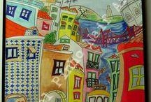 Naif Art / Os meus quadros de arte naif