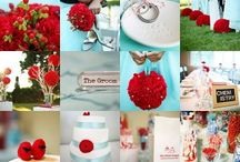 Red and Aqua wedding / by Bellus Designs