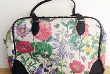 Rosehip Weekender bags / Weekender bags printed in Rosehip fabrics