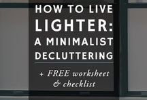 Decluttering and tidying