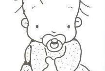 deti / obrazky - zvycajne jednoduchsie obrazky na textilne aplikacie, pozdravy, ci vysivanie...