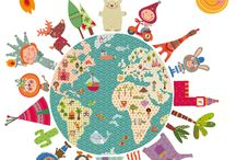 Vinilo infantil de tela | La Bola del Mundo