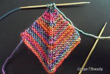 rainbow block knit