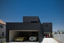 水盤のあるガレージコートハウス / 設計・監理:近藤晃弘建築都市設計事務所  撮影:福澤昭嘉