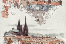 Urban Sketches, Watercolor