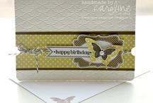 Carte papillon / Jolie carte avec des papillons , un brin de fantaisie et  inspiration