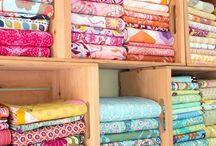 Folding fabric to size