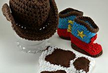 Crochet newborn sets