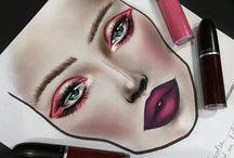 draw make up