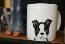 Hand painted animal mug cup - Cute mug cup - Cat & Dog / This is handmade mug cup of only one in the world. If you are loved animal, it is best present for you and your friends.  This painting is never eraser and forever with you. Every detail was hand painted by me with high quality ceramic paint.  https://www.etsy.com/shop/CreativeStoneCera