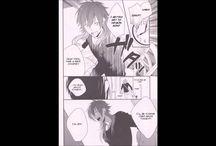 """Koujaku x Aoba    Doujinshi """"Dramatical Murderer"""" : Yaoi World / Images sur le thème du couple yaoi (ou boy's love): Koujaku x Aoba Game : Dramatical Murderer"""