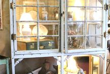 CuPbOaRdS~CaBiNeTs~CHifFeRoBeS / HUTCHES; AND ARMOIRES; PLACES TO HIDE JUNK / by Vicki @More Powerful Beyond Measure