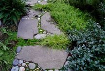 Garden Paths & Solar Lights / Garden paths & solar lighting ideas for inspiration.