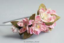 Цветы из фоамирана. Foam flowers / Цветы из фоамирана. Foam flowers
