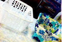 çamaşır sepeti süsleme