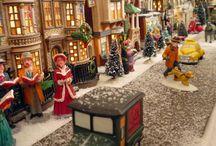 It's A Small World / Miniature christmas village ideas.