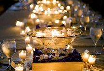 Table decor ideas / Here are some table decor ideas for weddings or receptions.