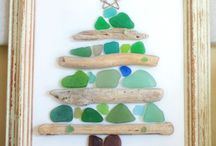 sea glass and driftwod diy