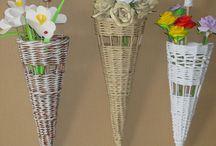 Dáždnik -pletený z papiera