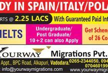Study in Spain/Italy/Poland