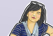 Sherlyna Rizki / My works. Art. Digital art. Vector art. Non-digital art. Follow my instagram for more: @sherlynarizki