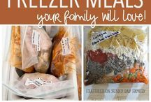 Home-cooked Freezer Meals / Prepare home-cooked freezer meals to cook later in the crockpot, oven or stove-top.