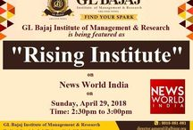 """GLBIMR is being featured as """"Rising Institute"""" @ News World India on Sunday, April 29, 2018"""