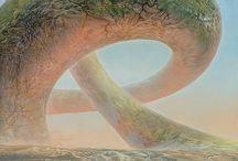 """Artist : Perter Gric / Ich denke, """"Dimworld's End"""" was so."""