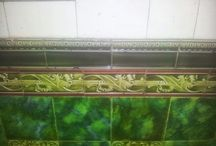 art deco wall and floor tiles
