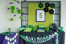 {Party} HULK / Gabe's 5th birthday party! Hulk SMASH!