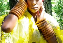 Fashion Inspired By Nature / This is fashion inspired by nature.  #Afreedom #African #Fashion #Women #Black #Turban #Yellow #Afreedommovement