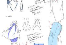 dibujar pliegues y detalles de la ropa