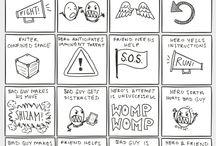 J.B S - Tips - Scener / Tips för författare ang en boks eller novells scener. (Writer, advice, book, novel, scenes)