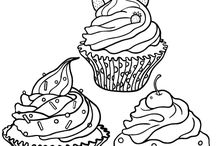 My colouringbook - Värityskirja / Colouring for adults. These make my sweet tooth feel really zen.