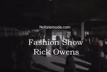 Rick Owens / Rick Owens collezione e catalogo primavera estate e autunno inverno abiti abbigliamento accessori scarpe borse sfilata donna.