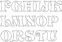 patrones de letras del alfabeto