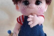beautiful knitted dolls