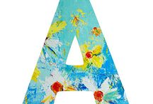 Alphabet Art Prints / Letters of the alphabet available in floral prints and abstract forms. Word art