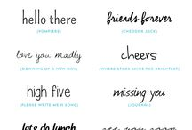 Design | Typography | Fonts / Beautiful and practical design, fonts and other design elements for blogs, websites and such.