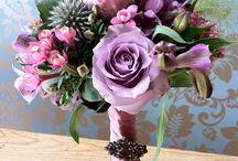 Bouquet and colour pallet
