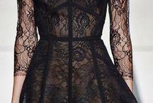 гипюр и ленты платье