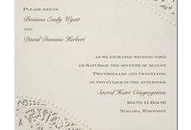 Embossed Wedding Invitations / Embossing is one of the most classic techniques in stationery and the perfect way to keep your wedding invitations stylish! All designs and more are available at Persnickety Invitation Studio.