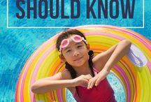 Water safety for kids / Water safety tips for parents to prevent drowning accidents during the summer, pool parties, and beach vacations.