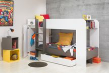 Children's Cool Bunk Beds / Bunk beds for children's bedrooms in a variety of designs and styles. Each bed offers additional storage as well as shelving units for your little one to surround themselves with their favourite things.