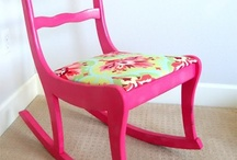 rocking chair makeover  / by Shannon Rakes