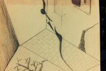 A delicada fragilidade humana ! / Desenhos a lapis