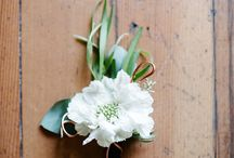 Wedding Flowers / Wedding bouquet and boutonnière inspirations.