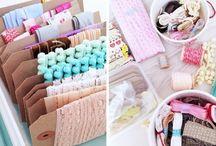 Organizando seus materiais de craft